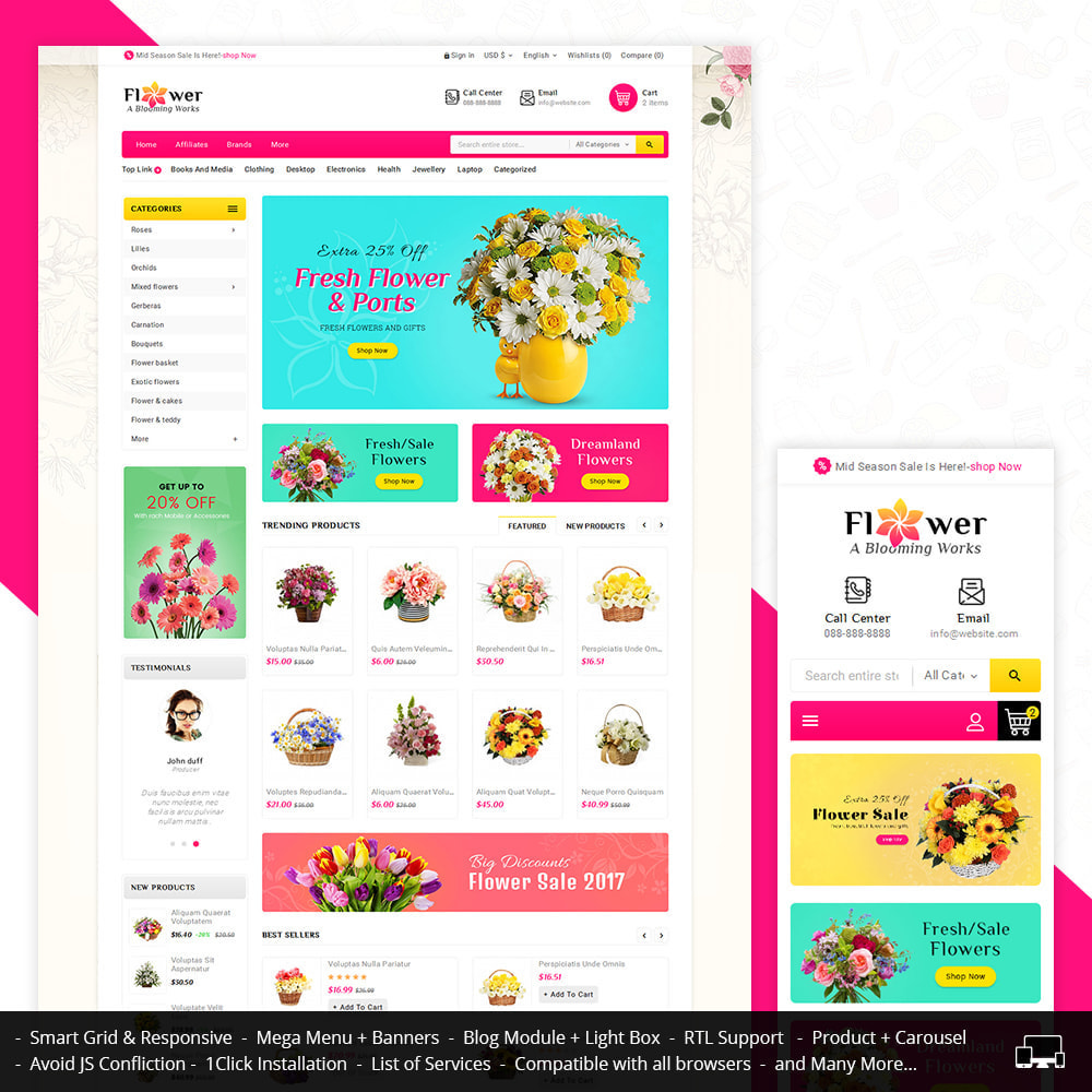 theme - Regali, Fiori & Feste - Blooming Flower Mega Store - 1