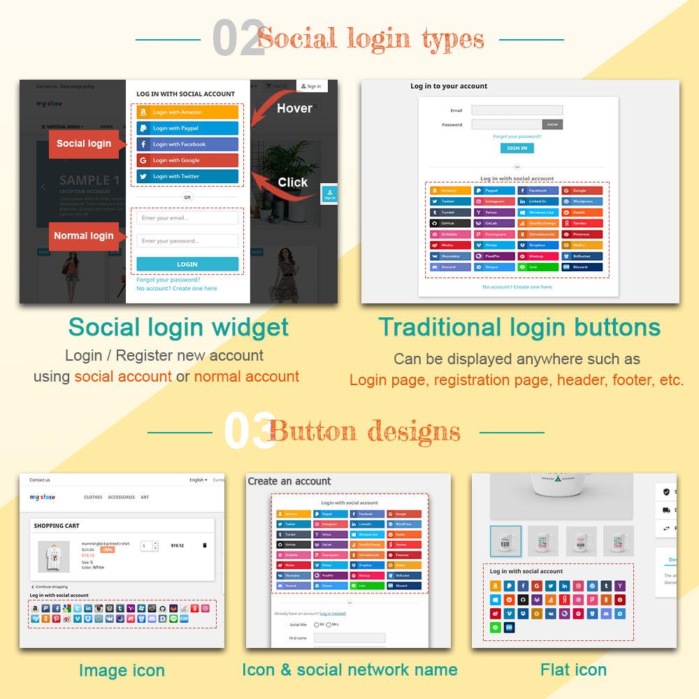 module - Login & Verbinden - SOCIAL LOGIN - 32+ social networks - 2