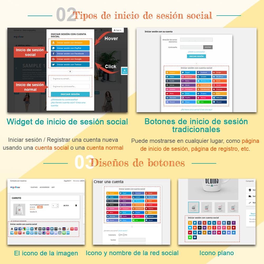 module - Botones de inicio de Sesión/Conexión - SOCIAL LOGIN - 32+ redes sociales - 2