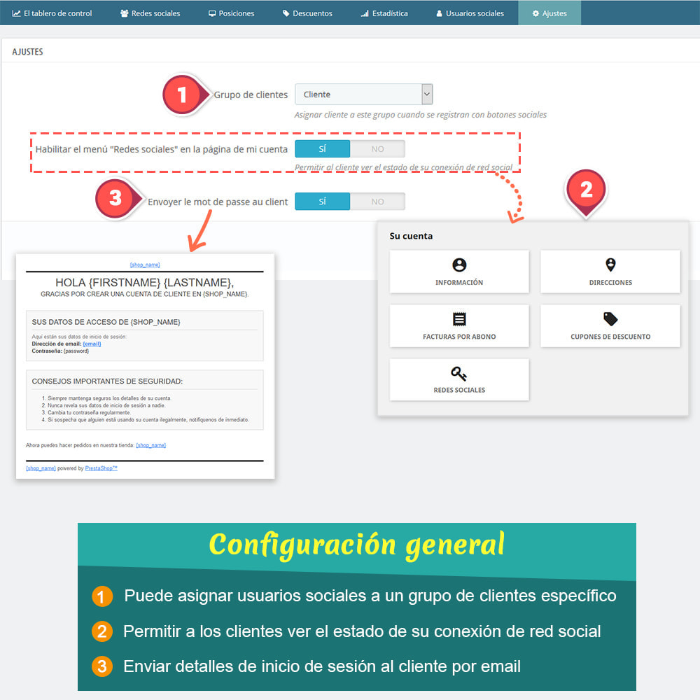 module - Botones de inicio de Sesión/Conexión - SOCIAL LOGIN - 32+ redes sociales - 9