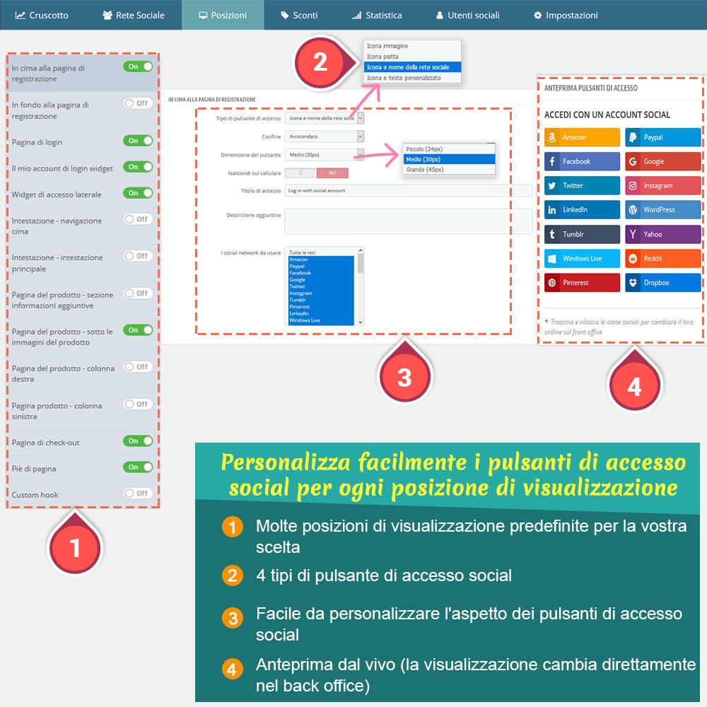 module - Login/Connessione - SOCIAL LOGIN - 32+ rete sociale - 5
