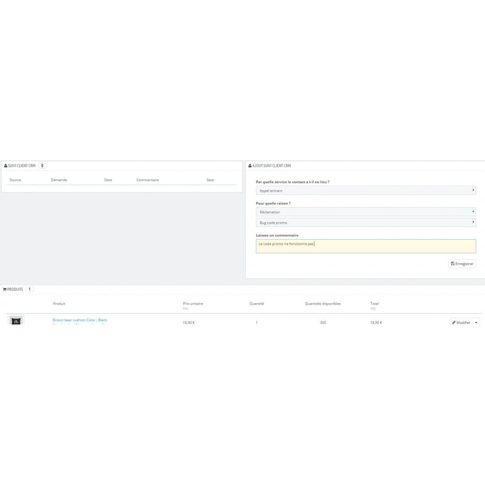 module - Соединение с внешней программой (CRM, ERP...) - CRM Customer - 4