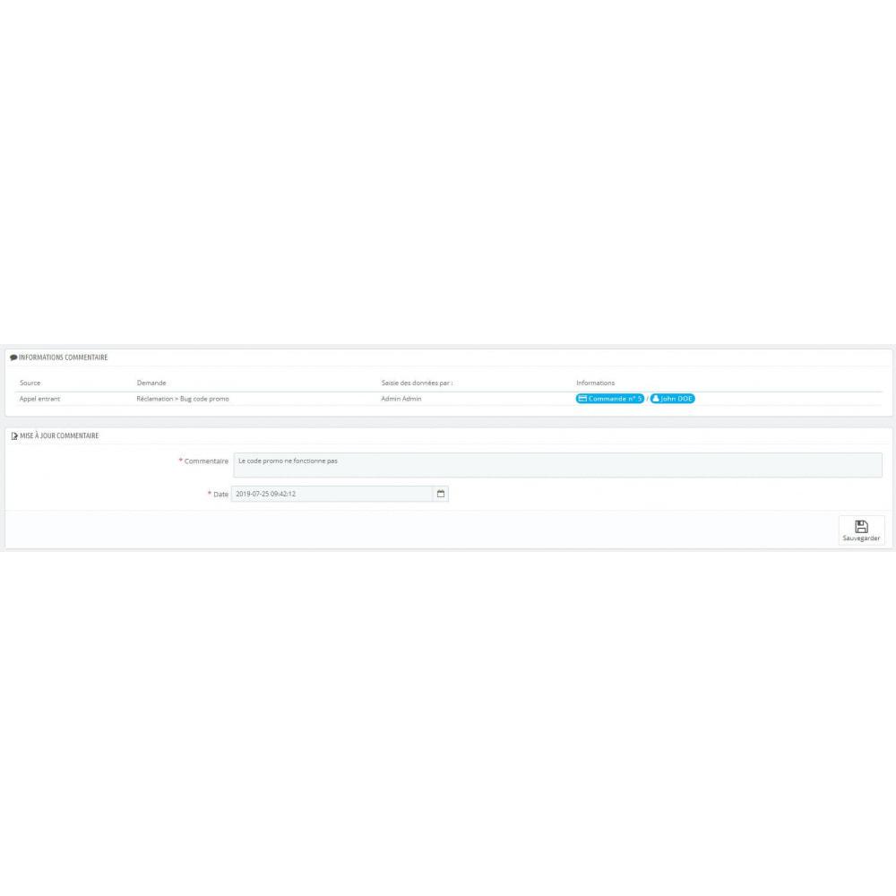 module - Соединение с внешней программой (CRM, ERP...) - CRM Customer - 6