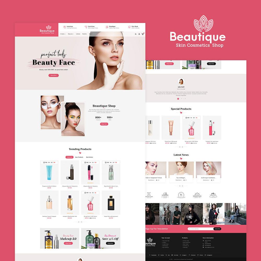 theme - Salud y Belleza - Beautique Skin Cosmetics - 2