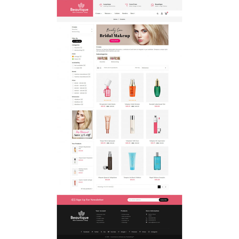 theme - Salud y Belleza - Beautique Skin Cosmetics - 3
