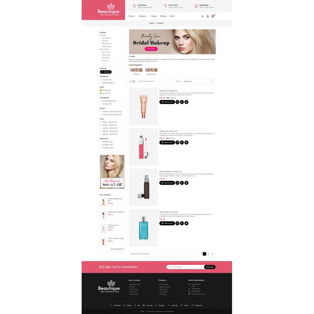 theme - Salud y Belleza - Beautique Skin Cosmetics - 4