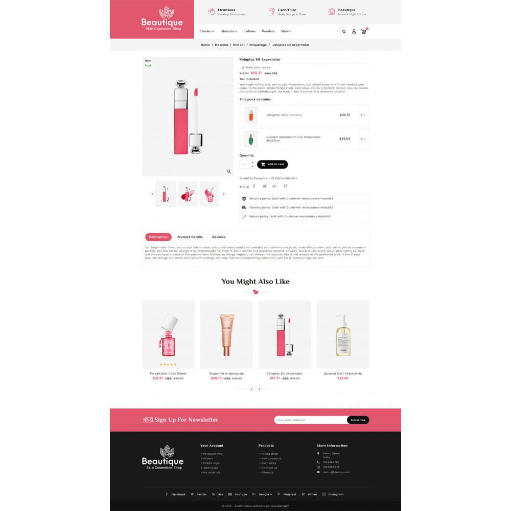 theme - Salud y Belleza - Beautique Skin Cosmetics - 5