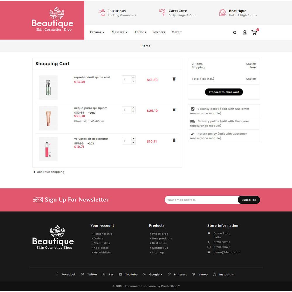 theme - Salud y Belleza - Beautique Skin Cosmetics - 6