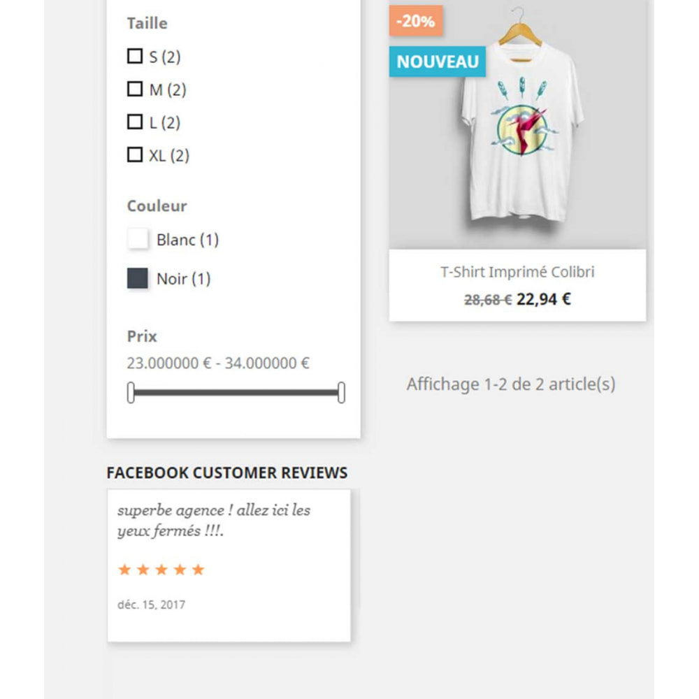 module - Comentarios de clientes - Post Face book Reviews on your website page - 2