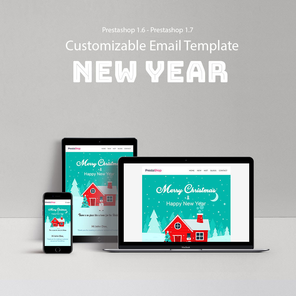 email - Plantillas de correos electrónicos PrestaShop - New Year - Template emails and for emails of module - 1