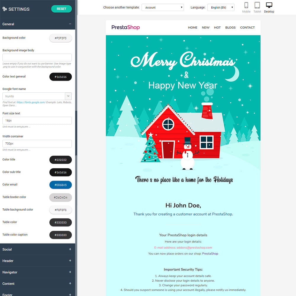 email - Plantillas de correos electrónicos PrestaShop - New Year - Template emails and for emails of module - 2