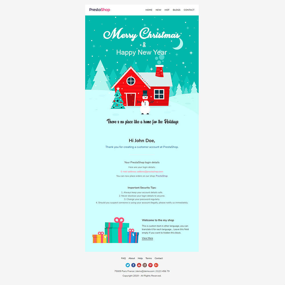 email - Plantillas de correos electrónicos PrestaShop - New Year - Template emails and for emails of module - 3