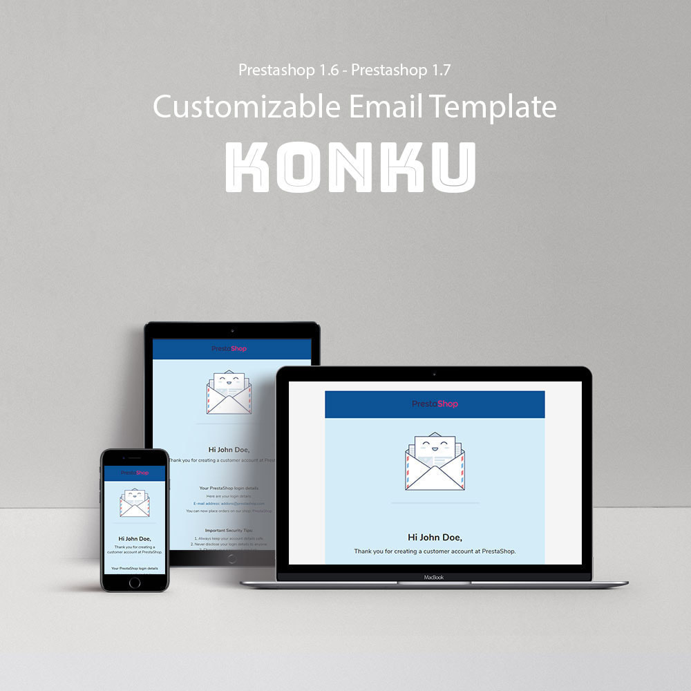 email - Plantillas de correos electrónicos PrestaShop - Konku - Template emails and for emails of module - 1