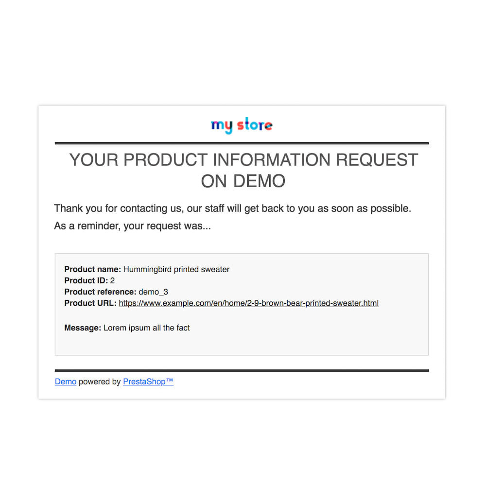 module - Zusatzinformationen & Produkt-Tabs - Product Info Requests - 6