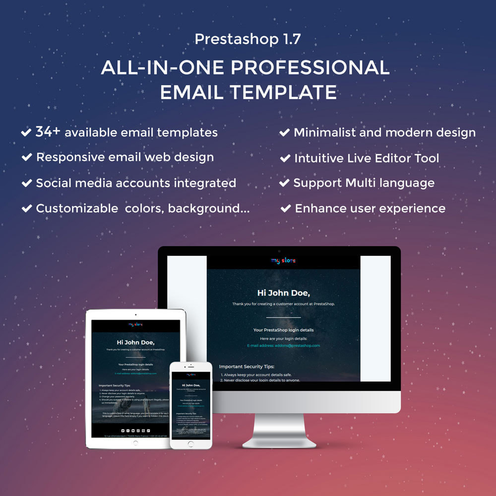 email - E-mailtemplates van PrestaShop - Wiz - Professional responsive Email Template - 1
