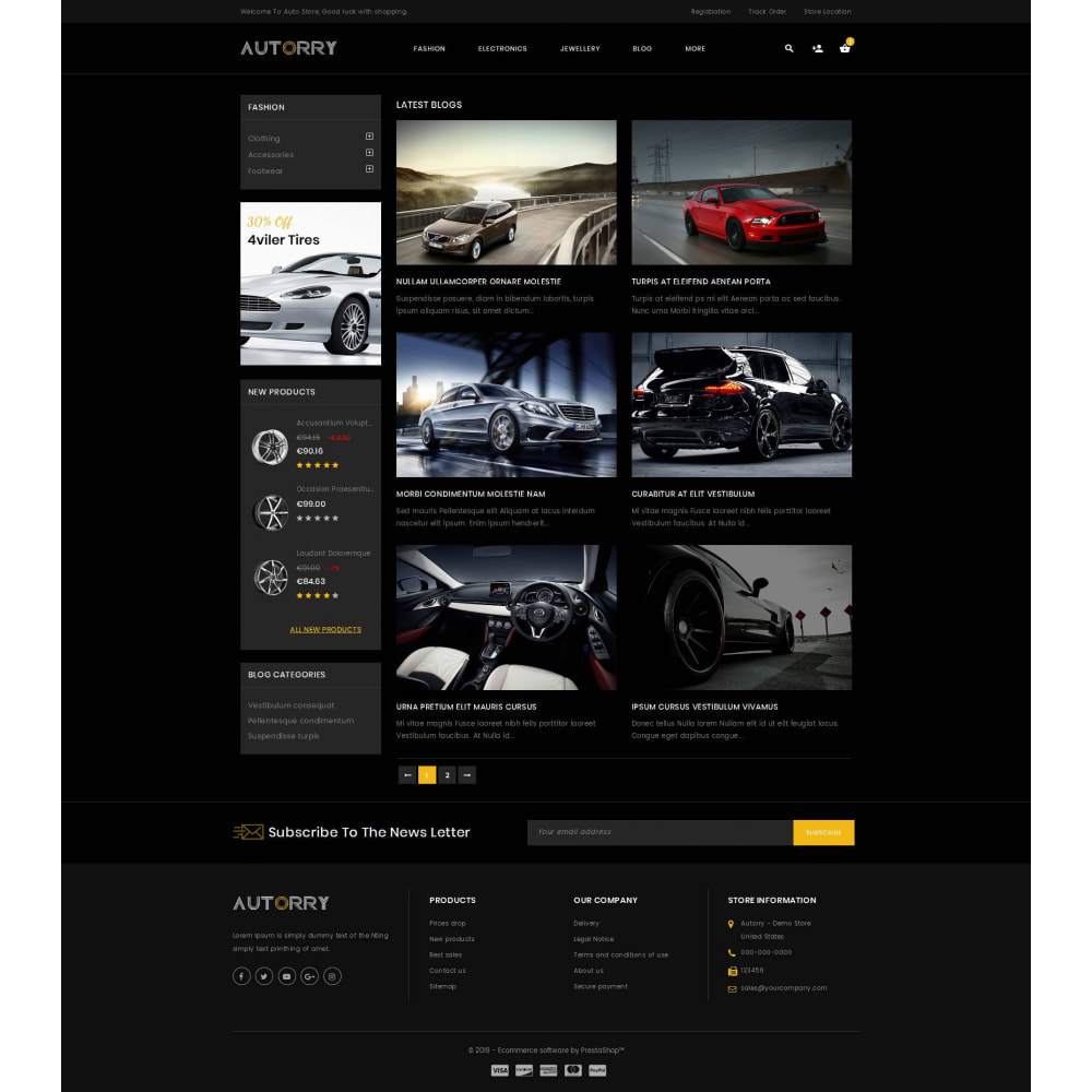 theme - Авто и Мото - Autorry - Auto Parts Store - 9