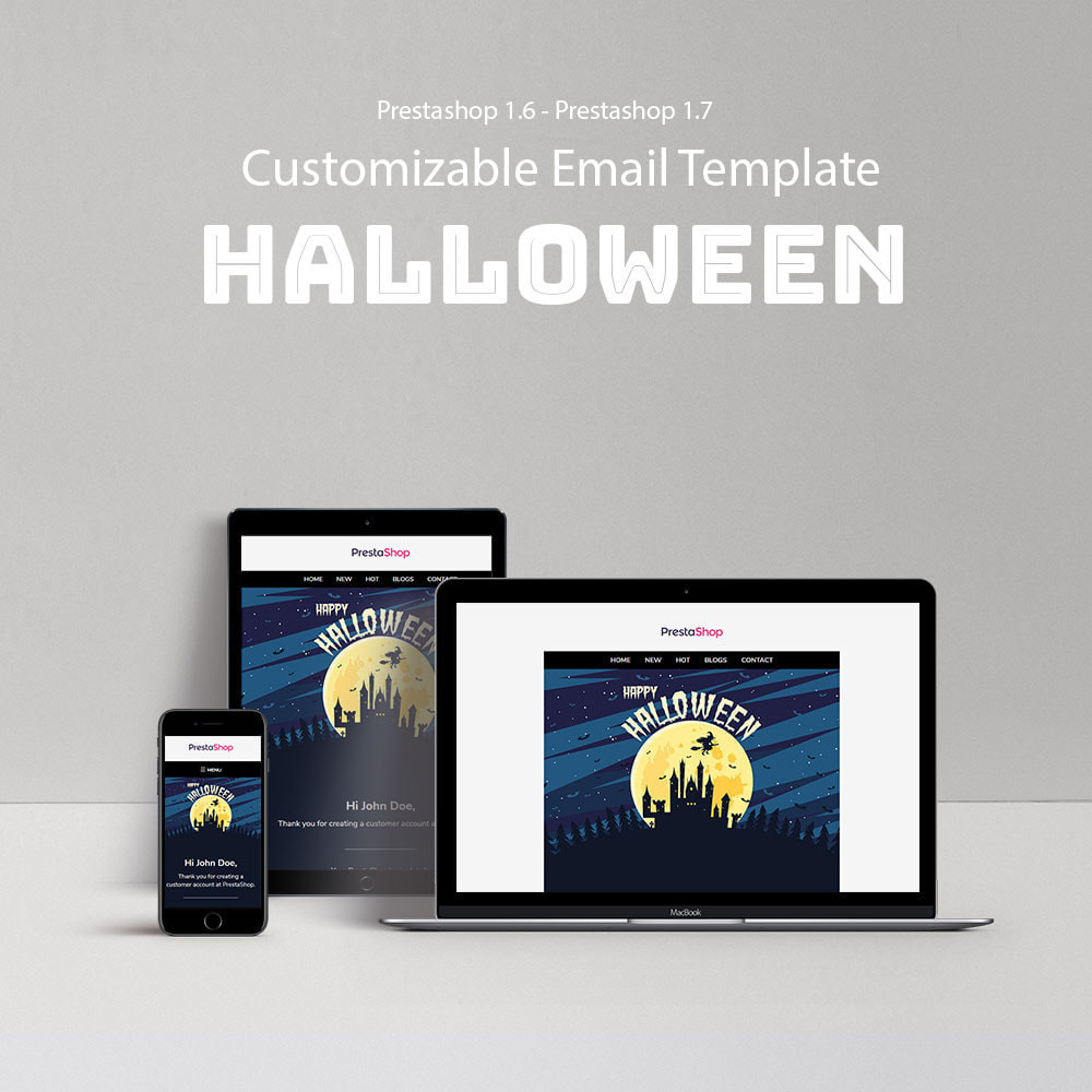 email - Szablony e-mail PrestaShop - Halloween - Template emails and for emails of module - 1