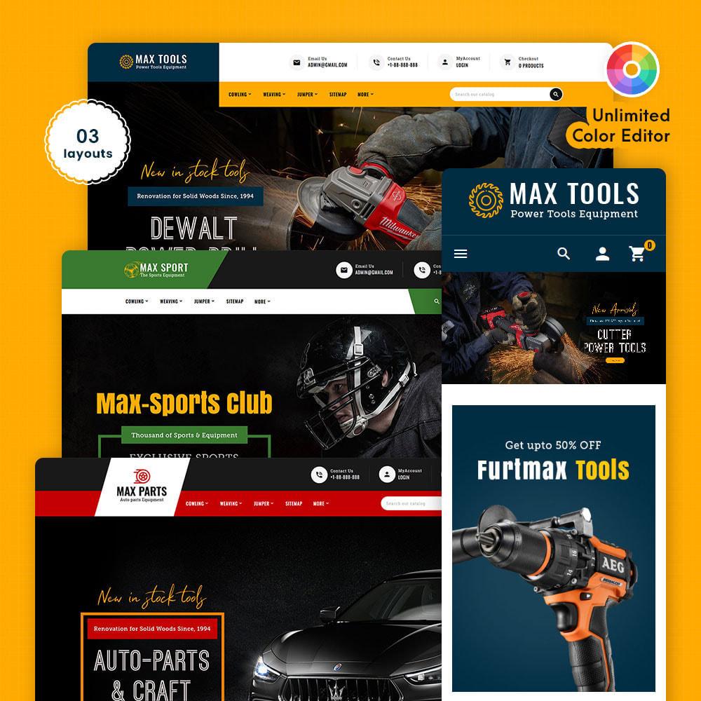 theme - Авто и Мото - Max Tools - Equipment, Parts & Sports - 1