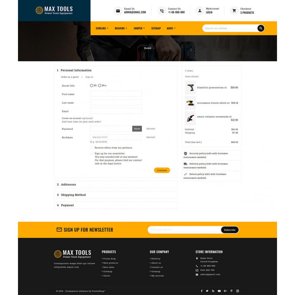 theme - Авто и Мото - Max Tools - Equipment, Parts & Sports - 9