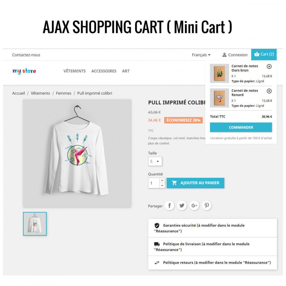 module - Personalização de página - Ajax Shopping Cart ( Mini Cart ) - 1