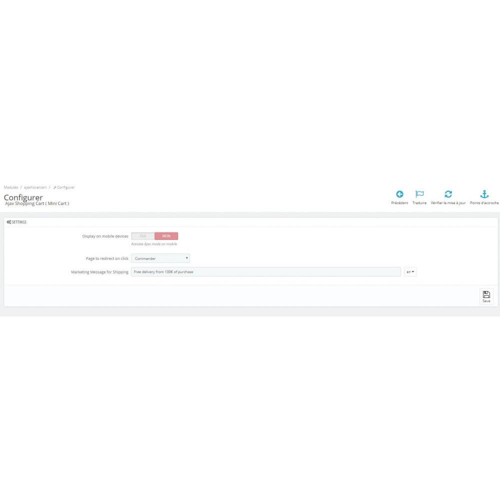 module - Personalização de página - Ajax Shopping Cart ( Mini Cart ) - 4