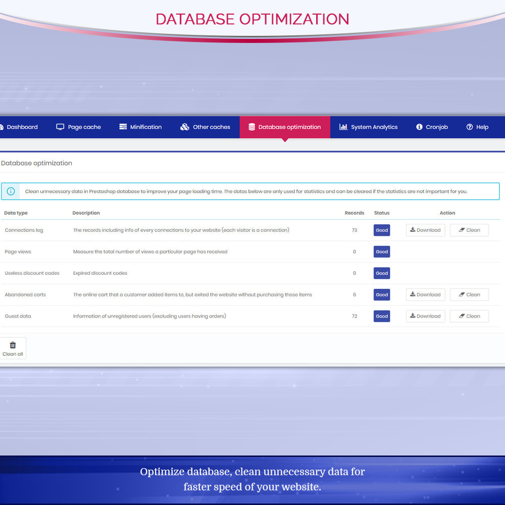 module - Website Performance - Page Cache Pro - Speed & SEO optimization - 8