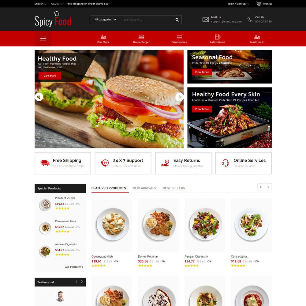 theme - Żywność & Restauracje - Spicy Food - The Mega Food Shop - 3