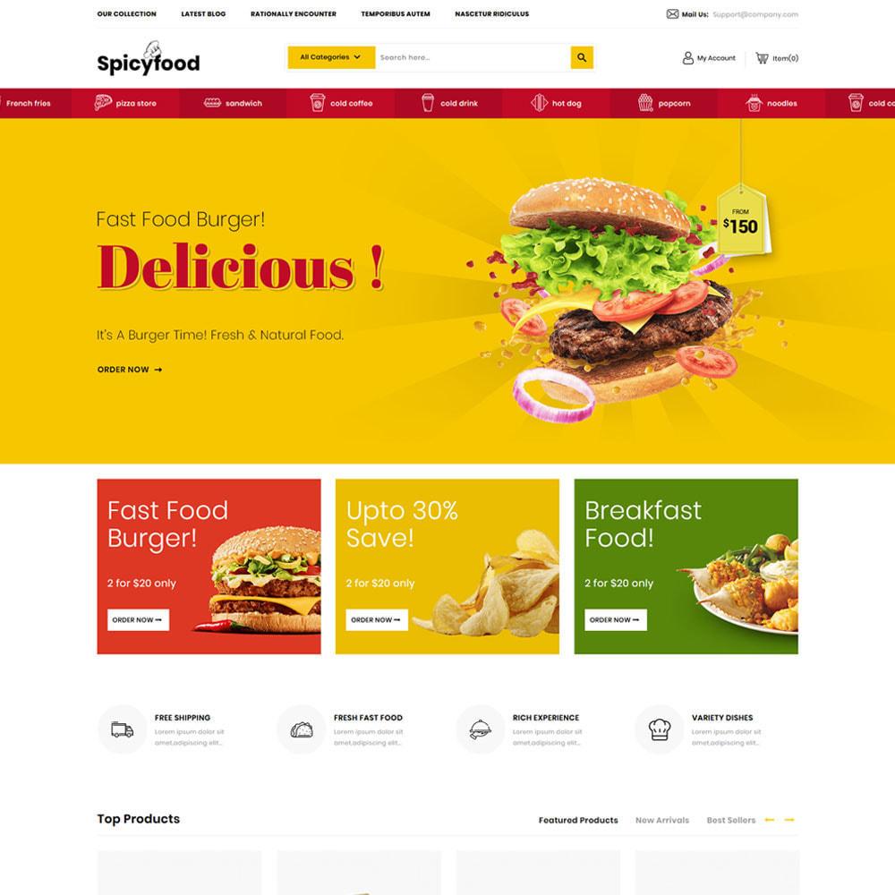 theme - Żywność & Restauracje - Spicy Food - The Mega Food Shop - 5