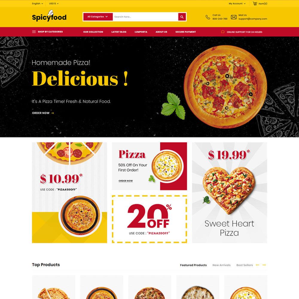 theme - Alimentation & Restauration - Spicy Food - Le magasin d'alimentation Mega - 4