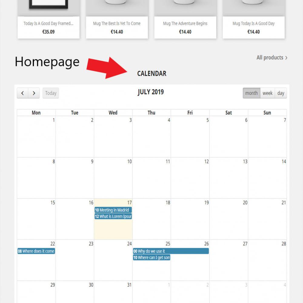module - Blog, Forum & Actualités - Full calendar events - 1