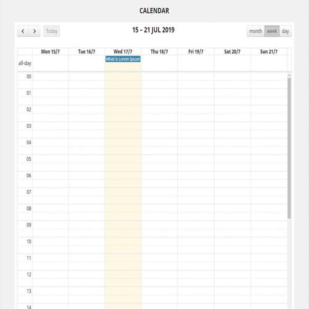 module - Blog, Forum & Actualités - Full calendar events - 3