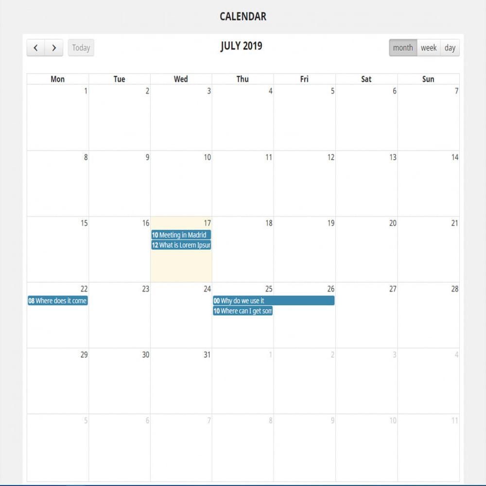 module - Blog, Foro y Noticias - Calendario completo de eventos - 2