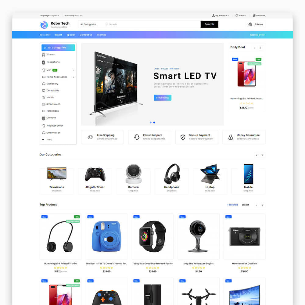theme - Elettronica & High Tech - RoboTech - Mega Electronics Store - 4