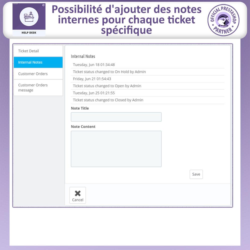 module - Service Client - Bureau d'aide - Système de Gestion du Service Clientèle - 11