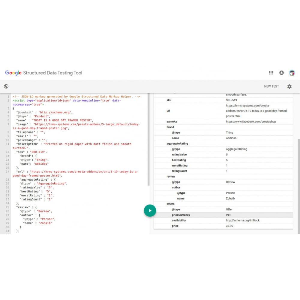 module - SEO (Pozycjonowanie naturalne) - SEO Structured Data Schema Markup & Rich Snippet - 2