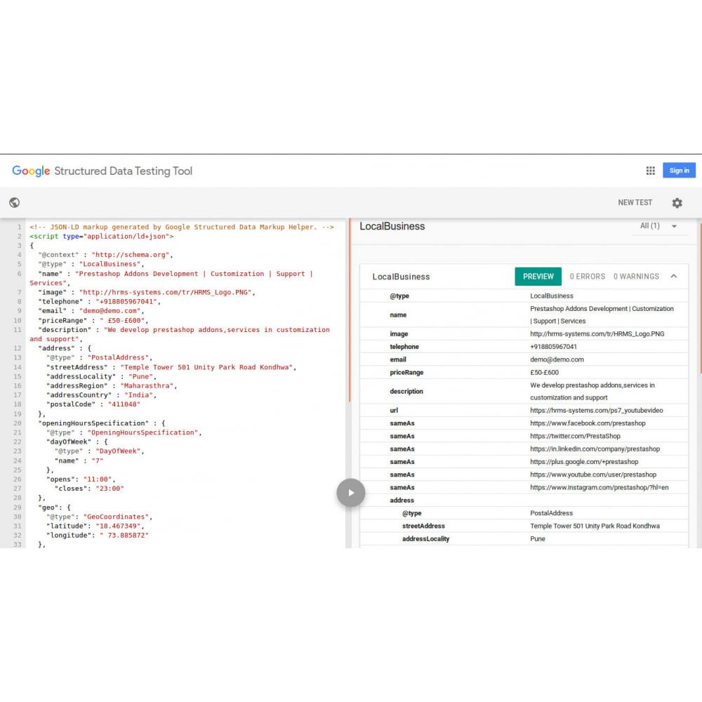 module - Естественная поисковая оптимизация - Схема структурированных данных SEO & Rich Snippet - 4