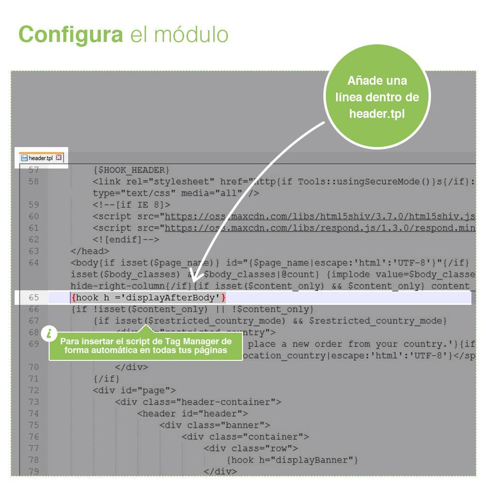 module - Informes y Estadísticas - Google Tag Manager - PRO - 3