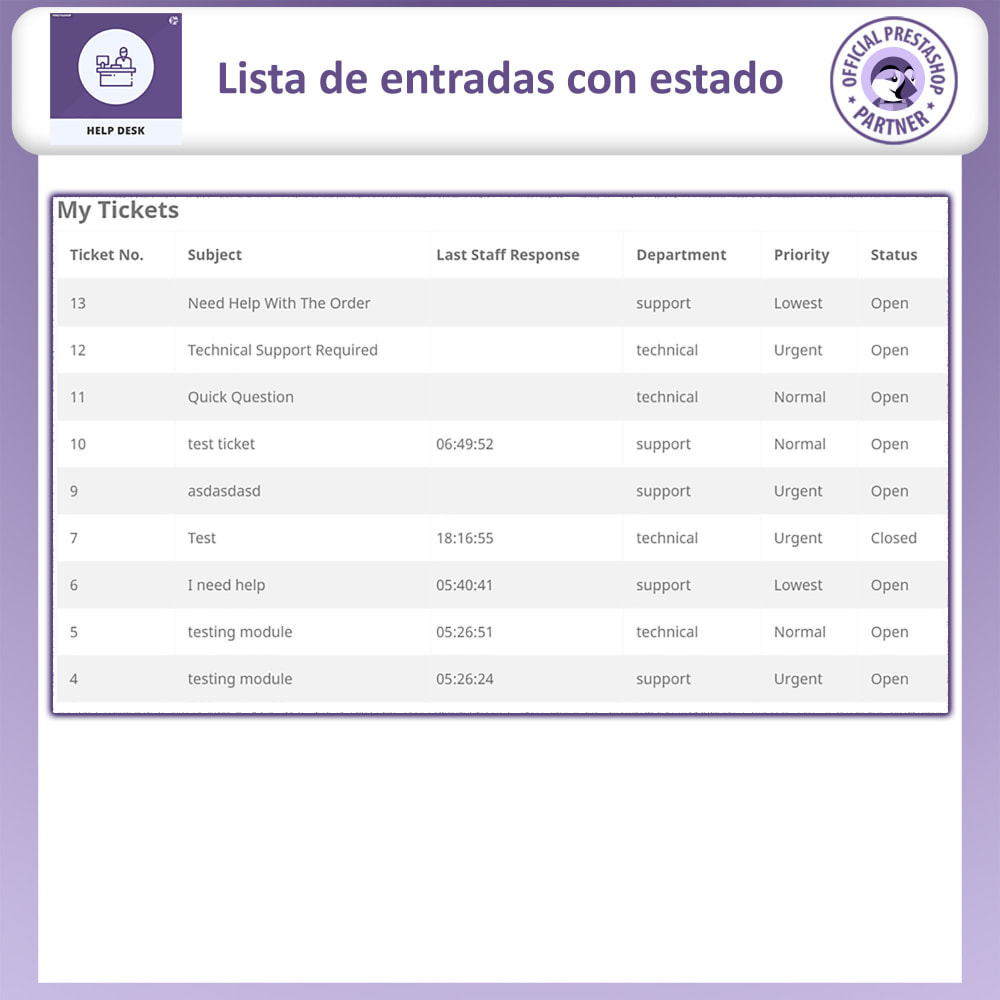 module - Servicio posventa - Mesa de ayuda - Sistema de gestión de soporte al client - 4