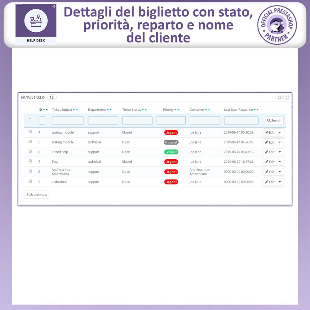 module - Servizio post-vendita - Help desk - Sistema di gestione dell'assistenza clienti - 8