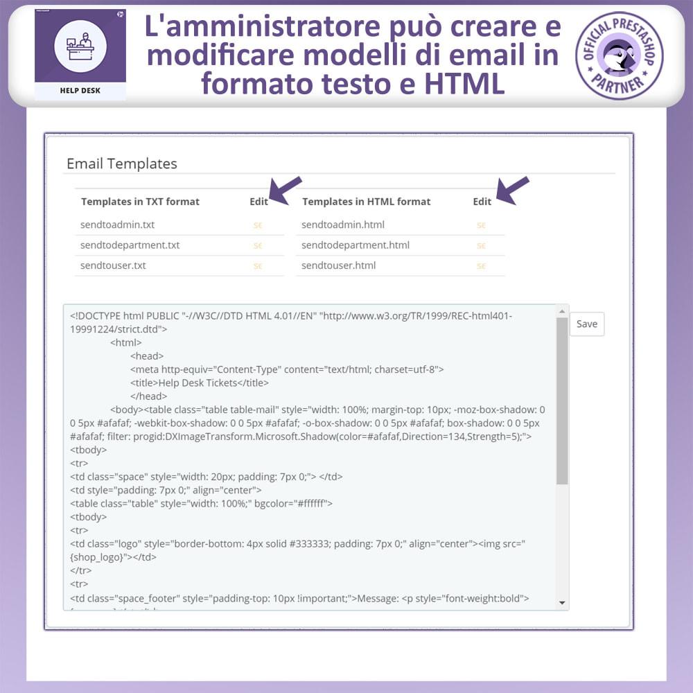 module - Servizio post-vendita - Help desk - Sistema di gestione dell'assistenza clienti - 17