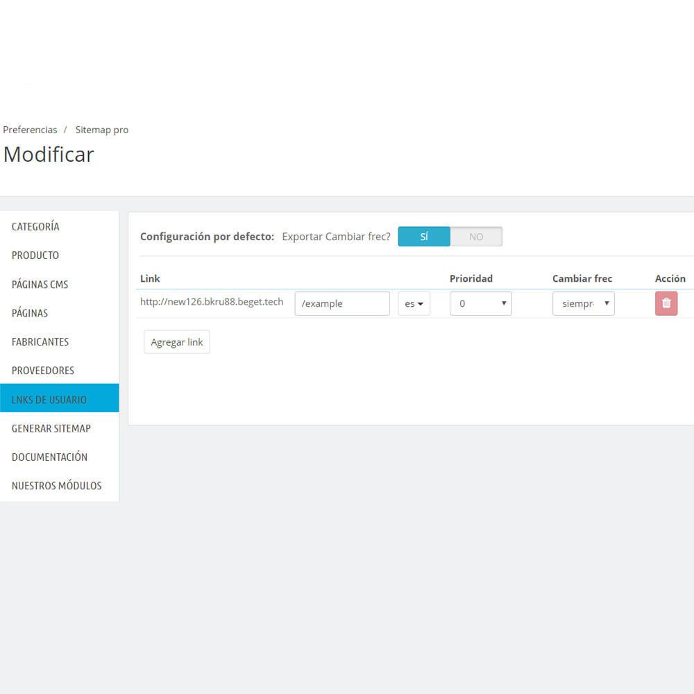 module - SEO (Posicionamiento en buscadores) - Mapa del sitio Pro xml - 9