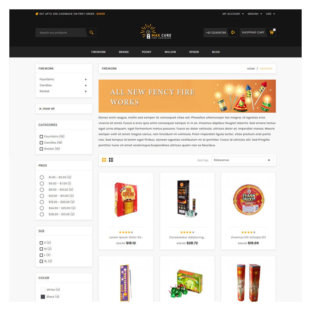 theme - Подарки, Цветы и праздничные товары - Maxcure Fireworks Store - 3