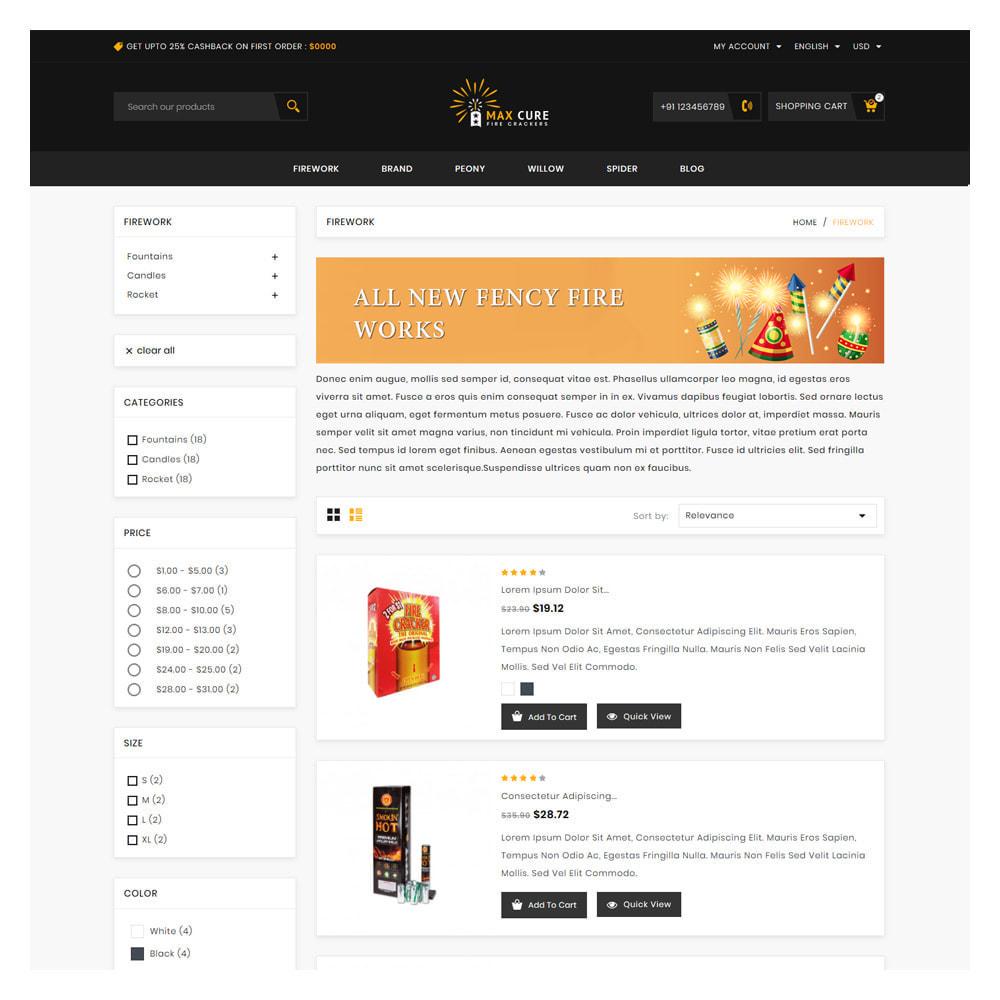 theme - Подарки, Цветы и праздничные товары - Maxcure Fireworks Store - 4