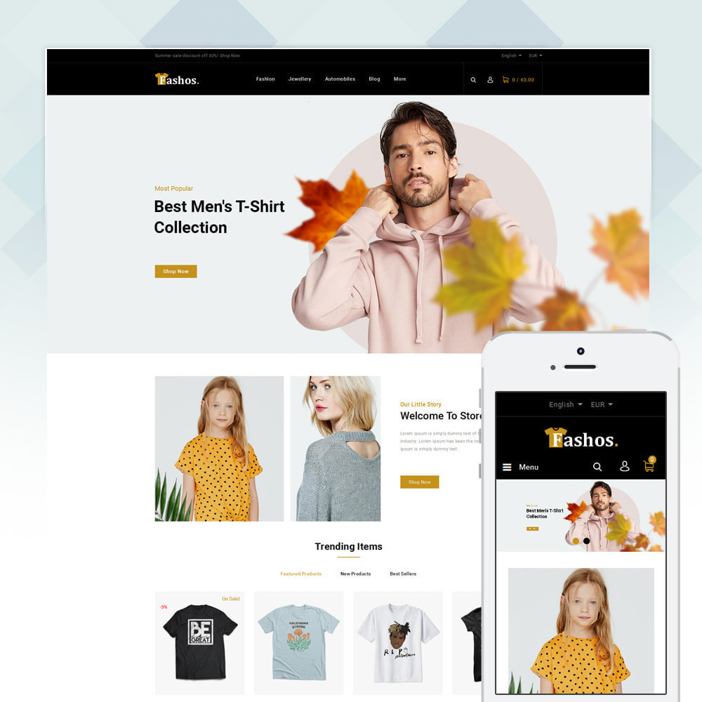 theme - Шаблоны PrestaShop - Fashos - Multipurpose Store - 2