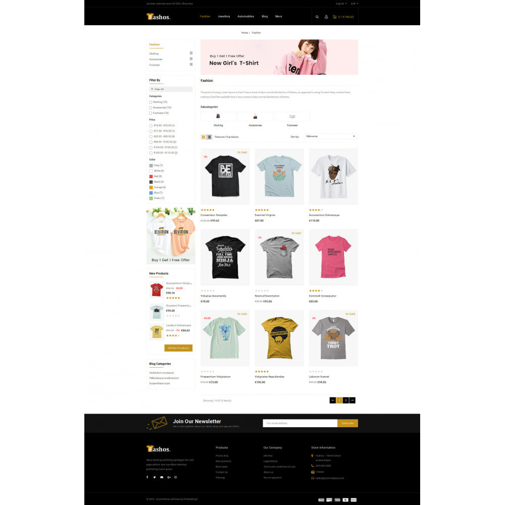 theme - Шаблоны PrestaShop - Fashos - Multipurpose Store - 6