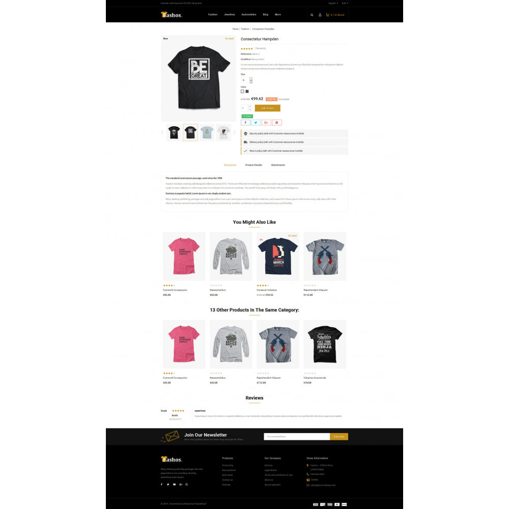 theme - Шаблоны PrestaShop - Fashos - Multipurpose Store - 8