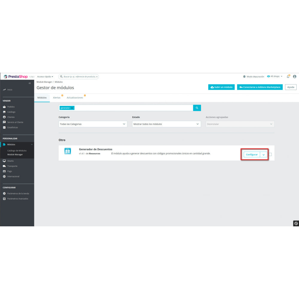 module - Promociones y Regalos - Generador de Descuentos - 4