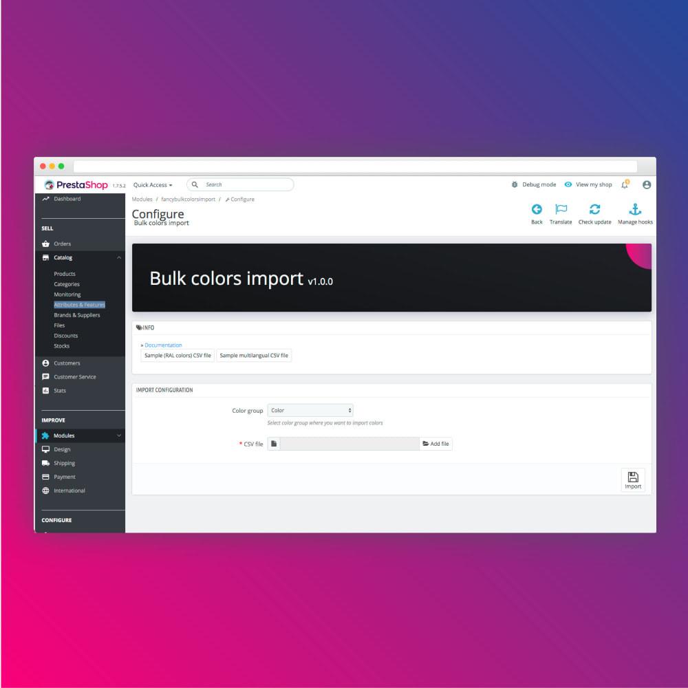module - Deklinacje & Personalizacja produktów - Bulk colors import - 2