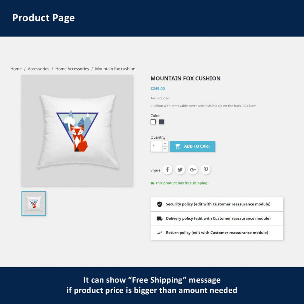 module - Verzendkosten - Free Shipping Amount Display - 4