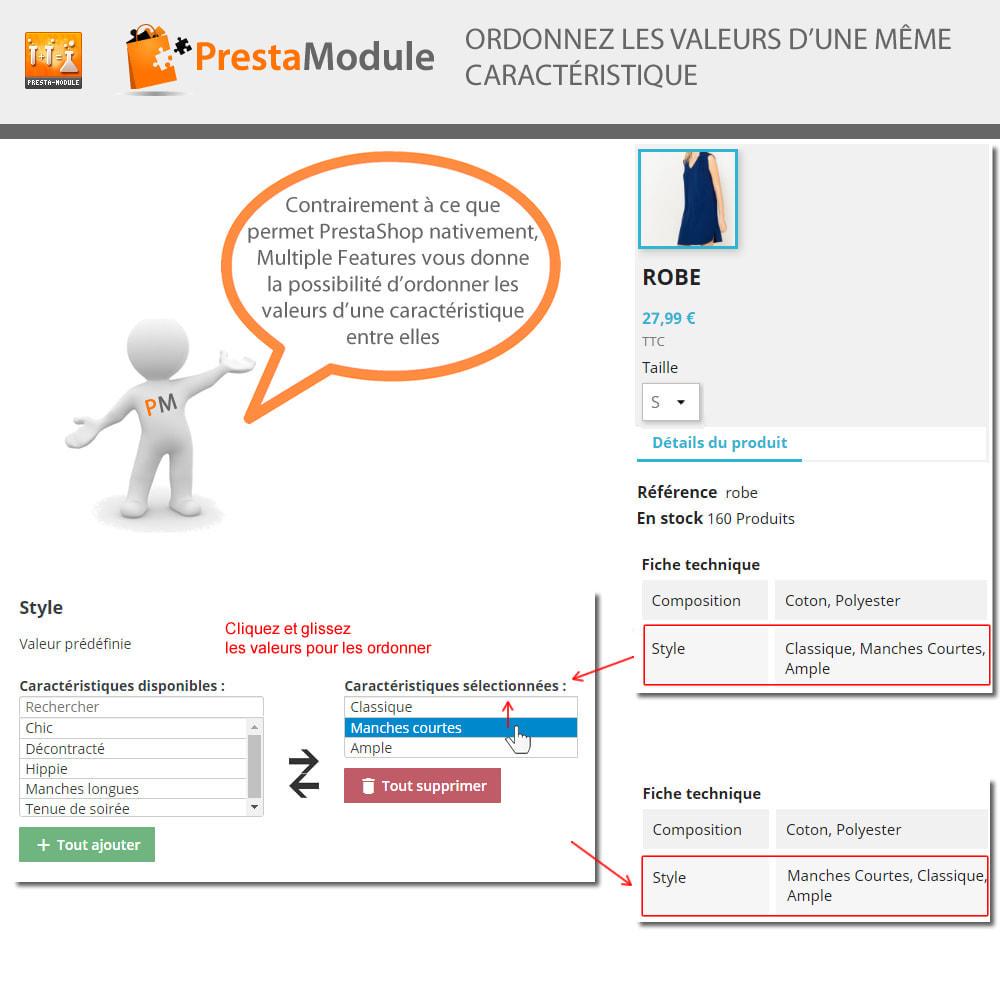 module - Recherche & Filtres - Multiple Features - Caractéristiques sans limite - 3